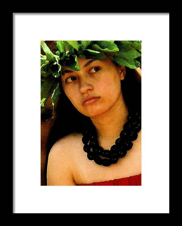 Hawaii Framed Print featuring the photograph Kukui Nut Lei by James Temple