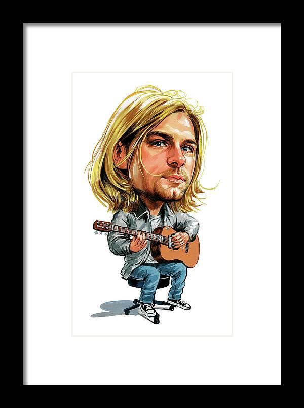 Kurt Cobain Framed Print by Art