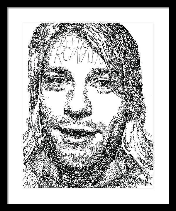 Kurt Cobain Framed Print by Michael Volpicelli
