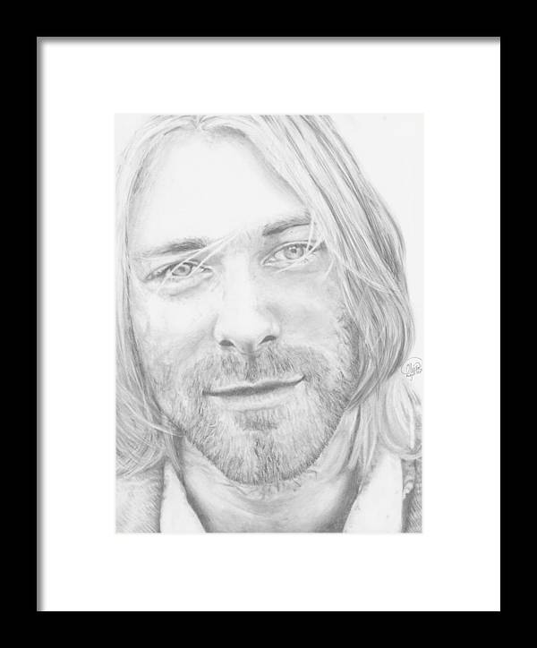 Kurt Cobain Framed Print by Olivia Schiermeyer