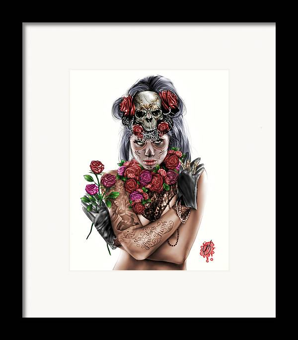 Pete Framed Print featuring the painting La Calavera Catrina by Pete Tapang