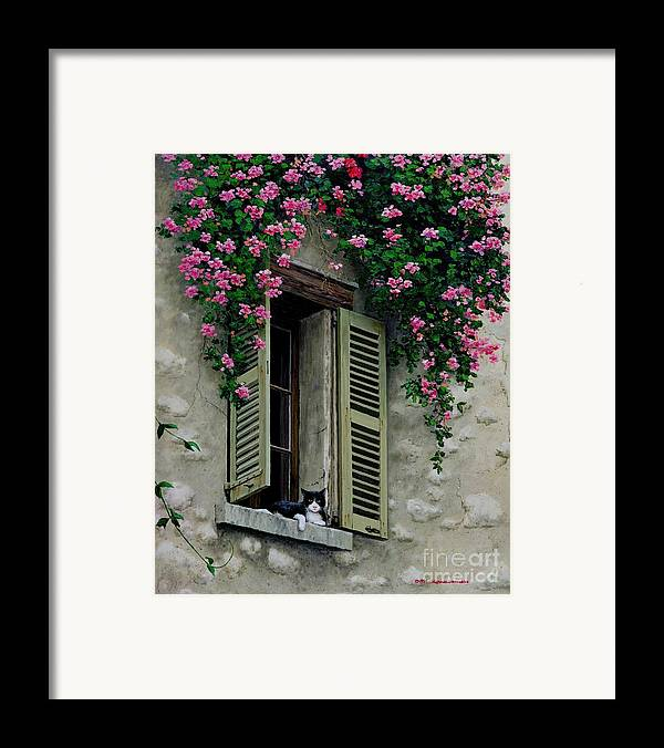 French Window Framed Print featuring the painting La Chad by Michael Swanson