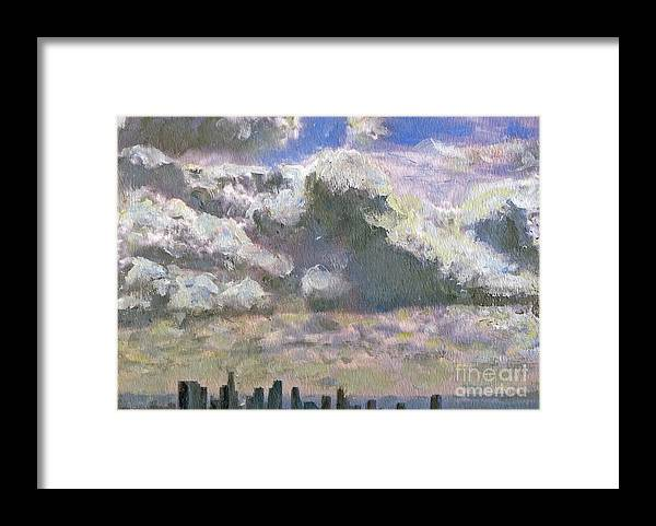 Clouds Framed Print featuring the painting LA Equivalent by Randy Sprout