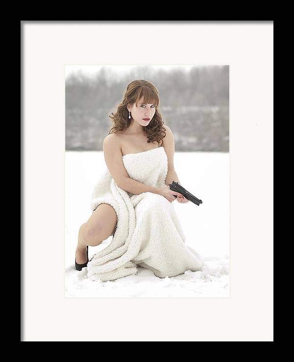Snowy Framed Print featuring the photograph La Femme by Brian Mollenkopf
