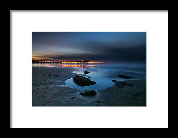Sun Framed Print featuring the photograph La Jolla Sunset 7 by Larry Marshall