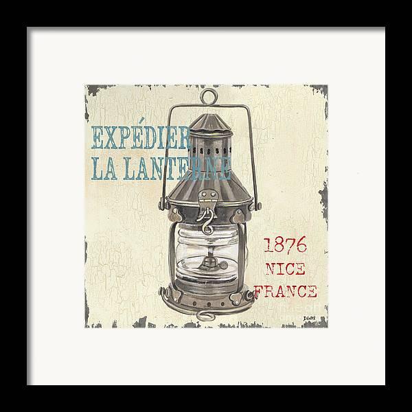 Coastal Framed Print featuring the painting La Mer Lanterne by Debbie DeWitt