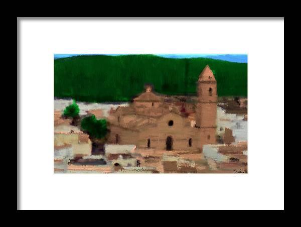 Spain Framed Print featuring the painting La Parroquia De La Purisima by Bruce Nutting
