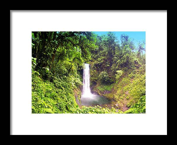 La Paz Framed Print featuring the photograph La Paz Waterfall Costa Rica by Michael Kogan