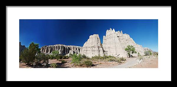 Plaza Blanca Framed Print featuring the photograph La Plaza Blanca - Panorama by Julie VanDore