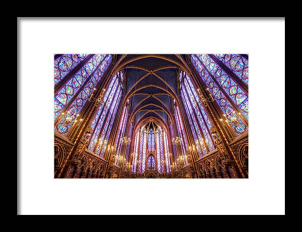Arch Framed Print featuring the photograph La Sainte-chapelle Upper Chapel, Paris by Joe Daniel Price