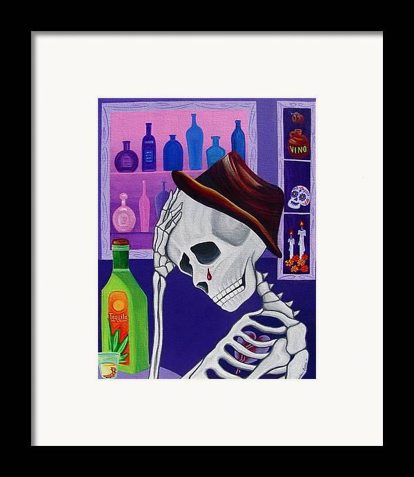 Dia De Los Muertos Framed Print featuring the painting La Vida No Vale Nada Dos by Evangelina Portillo