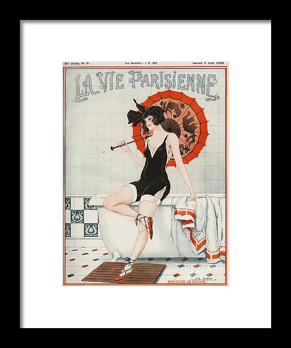 1920�s Framed Print featuring the drawing La Vie Parisienne 1923 1920s France by The Advertising Archives