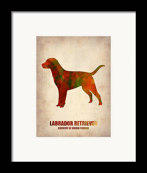 Labrador Retriever Framed Print featuring the painting Labrador Retriever Poster by Naxart Studio
