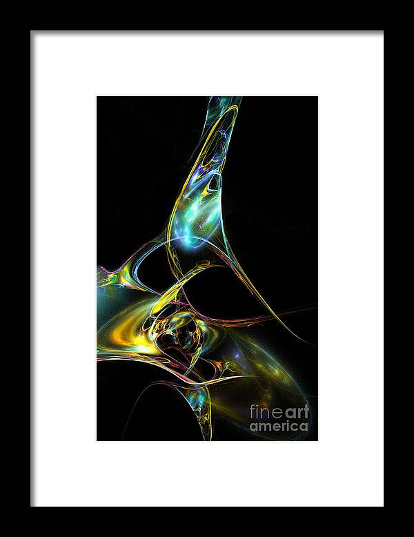 Fractal Framed Print featuring the digital art Lace Your Shoes by Klara Acel