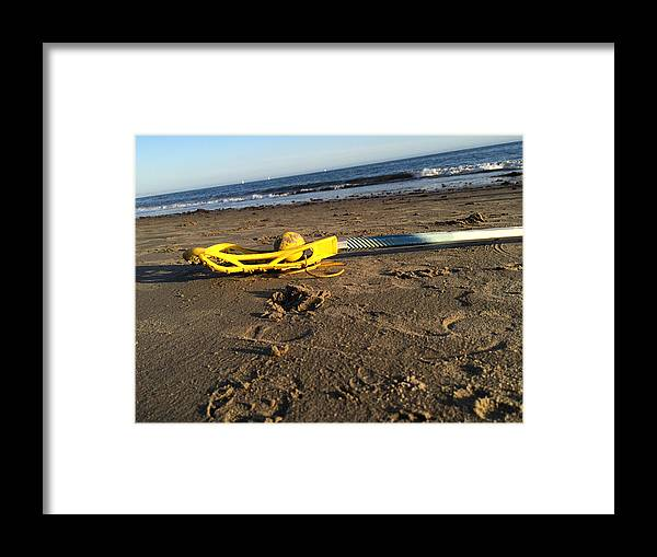Lacrosse Framed Print featuring the photograph Lacrosse Womens Stick On The Beach by YouGotThat Lacrosse