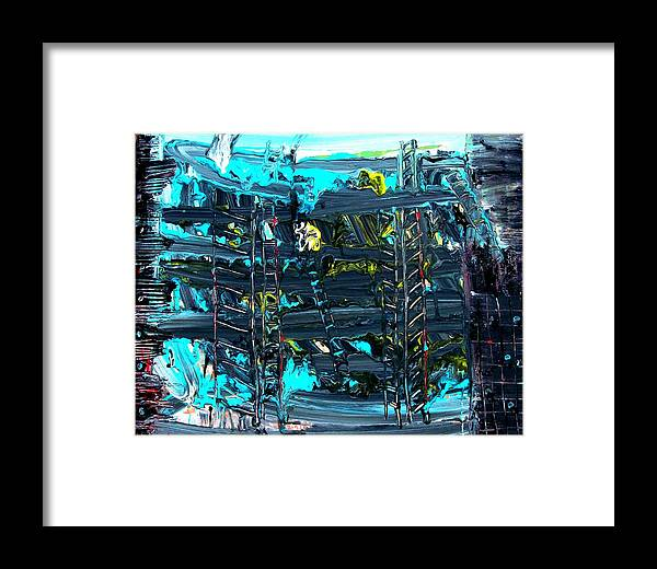 Abstract Framed Print featuring the photograph Ladders Under The Sea I by Cj Carroll