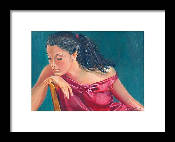Lady Framed Print featuring the painting Lady In Red by Pamela Ramey Tatum