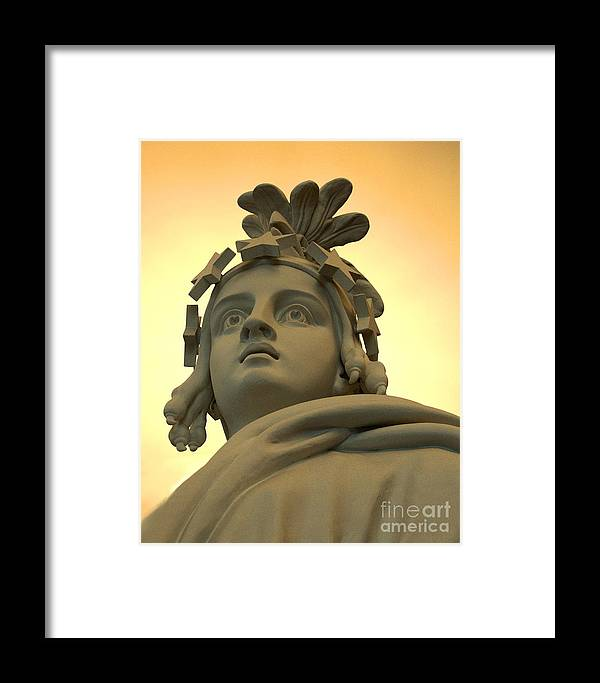 Capitol Building Framed Print featuring the photograph Lady Liberty by David Call