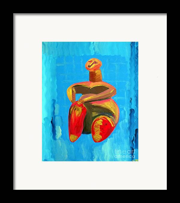 Portrait Framed Print featuring the painting Lady Of Cucuteni by Vicky Tarcau