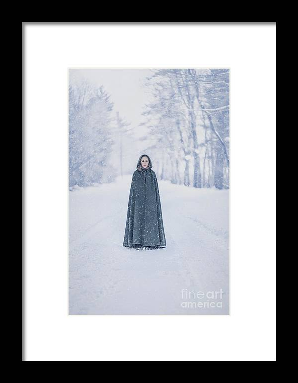 Kremsdorf Framed Print featuring the photograph Lady Of The Winter Forest by Evelina Kremsdorf