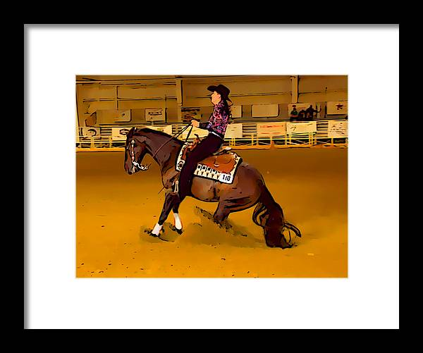 Horse Framed Print featuring the photograph Lady Slide by Alice Gipson