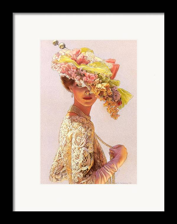 Portrait Framed Print featuring the painting Lady Victoria Victorian Elegance by Sue Halstenberg