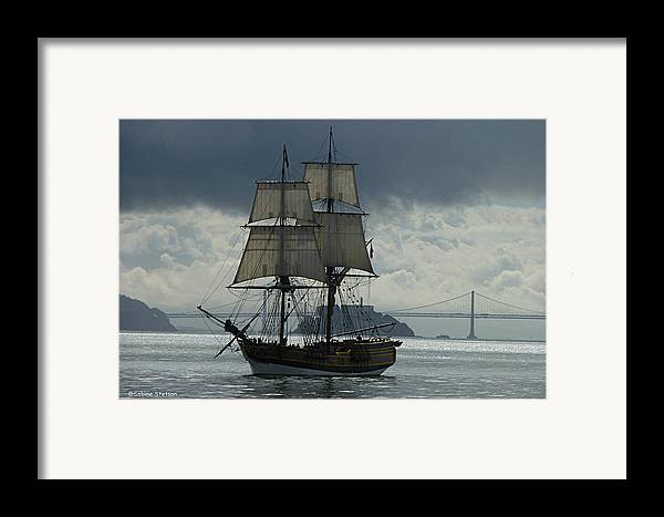 Tall Ship Framed Print featuring the photograph Lady Washington by Sabine Stetson