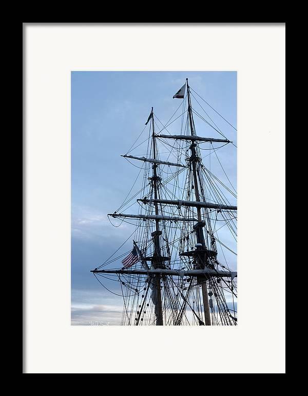 Washington Framed Print featuring the photograph Lady Washington's Masts by Heidi Smith