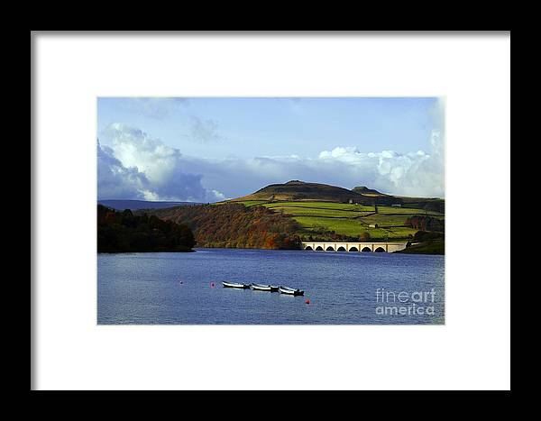 Ladybower Reservoir Framed Print featuring the photograph Ladybower Reservoir by Andrew Barke