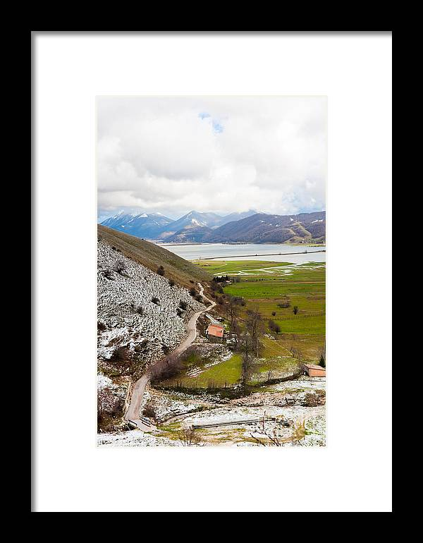 Landscape Framed Print featuring the photograph Lago Del Matese by Gabriela Insuratelu