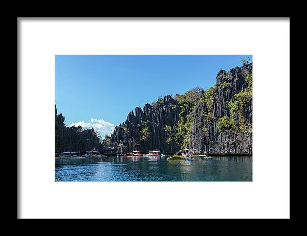 Outdoors Framed Print featuring the photograph Lagoon, Coron, Palawan, Phillippines by John Harper