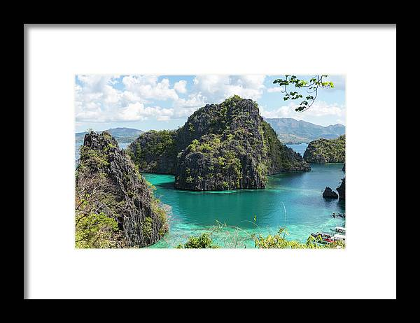 Scenics Framed Print featuring the photograph Lagoon In Coron, Palawan, Phillippines by John Harper