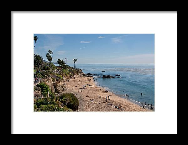 Tranquility Framed Print featuring the photograph Laguna Beach Cove by Mitch Diamond