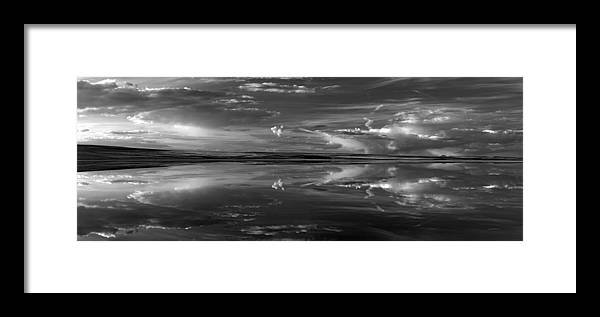 Alkali Lake Framed Print featuring the photograph Lake Abert 4 Black And White by Leland D Howard