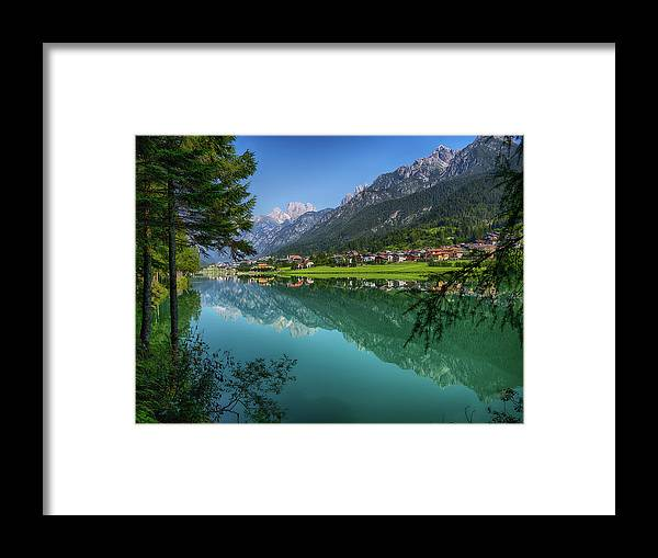 Veneto Framed Print featuring the photograph Lake. Color Image by Claudio.arnese