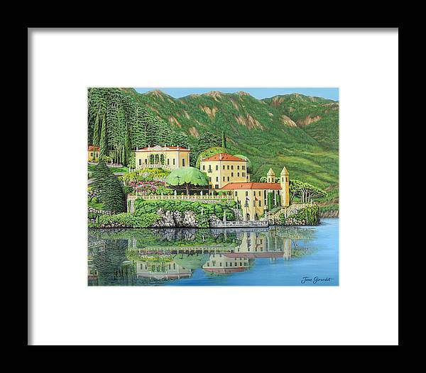 Lake Framed Print featuring the painting Lake Como Morning by Jane Girardot