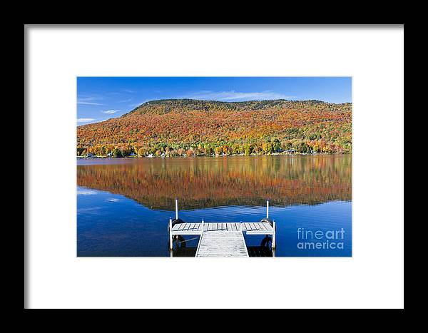 Fall Framed Print featuring the photograph Lake Elmore Autumn by Alan L Graham