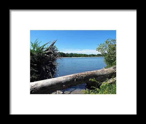 Sheldon Marsh Framed Print featuring the photograph Lake Erie At Sheldon Marsh by Shawna Rowe