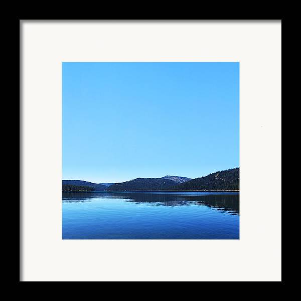 Lake Framed Print featuring the photograph Lake In California by Dean Drobot