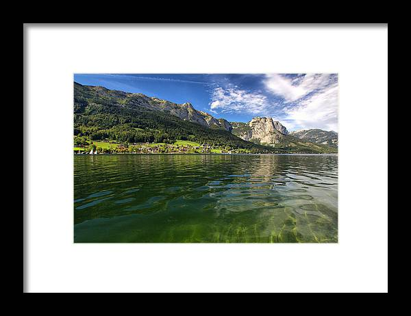 Mountain Framed Print featuring the photograph Lake In High Mountains by Stockr
