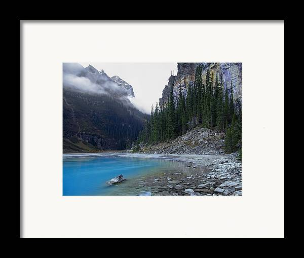 lake Louise Framed Print featuring the photograph Lake Louise North Shore - Canada Rockies by Daniel Hagerman