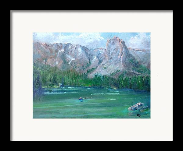 Landscape Framed Print featuring the painting Lake Mamie by Bryan Alexander