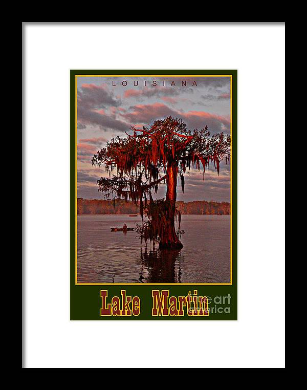 Landscape Framed Print featuring the photograph Lake Martin Louisiana by Kimo Fernandez