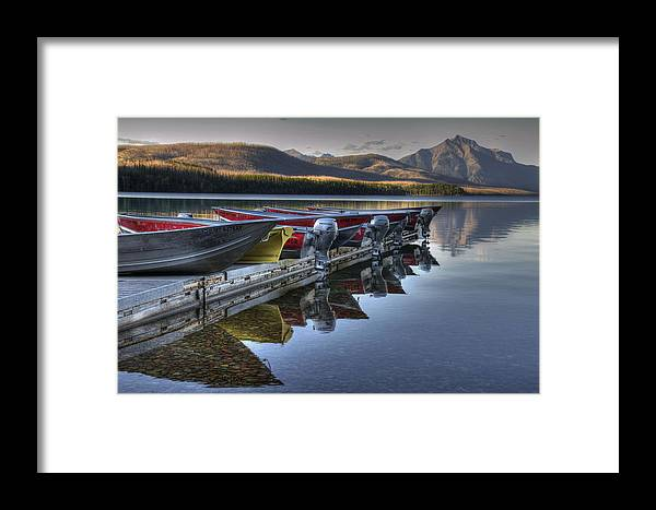 Landscape Framed Print featuring the photograph Lake Mcdonald by Darlene Bushue
