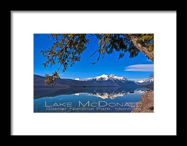 Framed Print featuring the photograph Lake Mcdonald by Jim Lucas