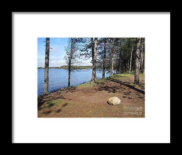 Lake Of Flames Framed Print featuring the photograph Lake Of Flames by Terry Hunt
