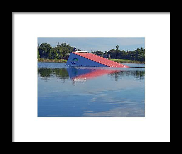 Landscape Framed Print featuring the photograph Lake Silver Ski Jump by Chris Mercer