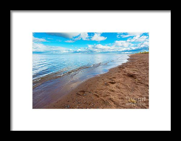 Minnesota Framed Print featuring the photograph Lake Superior by Adahm Faehn