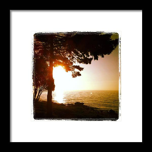 Lake Framed Print featuring the photograph Lake Superior Sunrise by Sheri Nelson