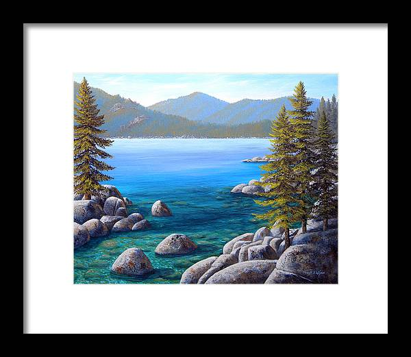 Lake Tahoe Framed Print featuring the painting Lake Tahoe Inlet by Frank Wilson